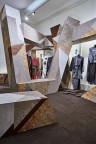 Настенная пробка в инсталляции на неделе моды в Лондоне